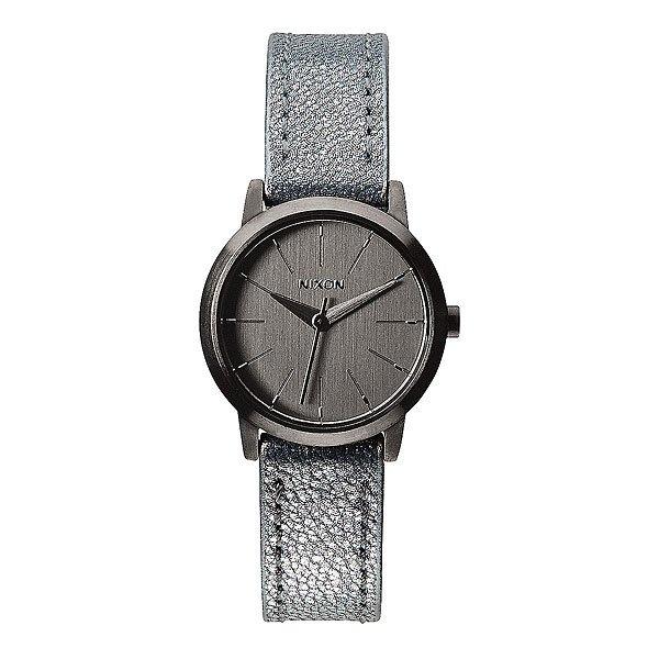 Часы женские Nixon Kenzi Leather Gunmetal/Blue Shimmer