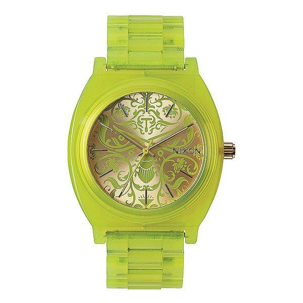 Часы женские Nixon Time Teller Acetate Neon Yellow/Beetlepoint