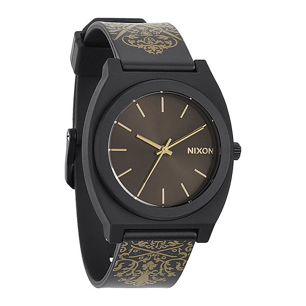Часы Nixon Time Teller P Black/Gold Ornate