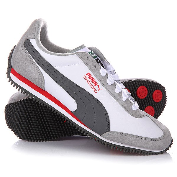 Кеды кроссовки детские Puma Whirlwind L Junior Limestone Gray/White/Dark