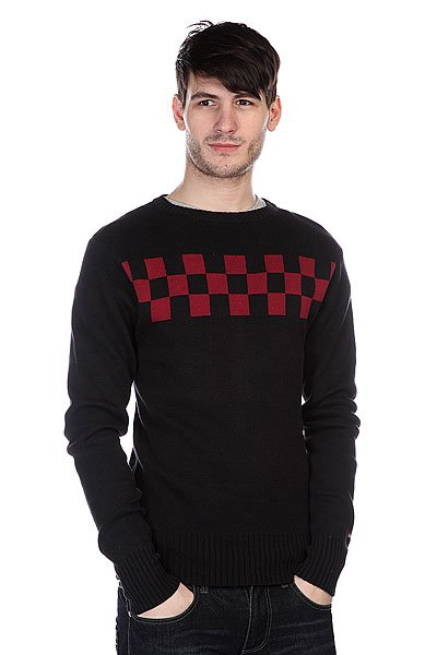 Свитер Independent Speed Crew Black/Oxblood