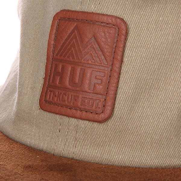 Бейсболка Huf Ascent 6 Panel Tan