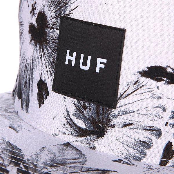 Бейсболка Huf Floral Box Logo Snapback White Floral