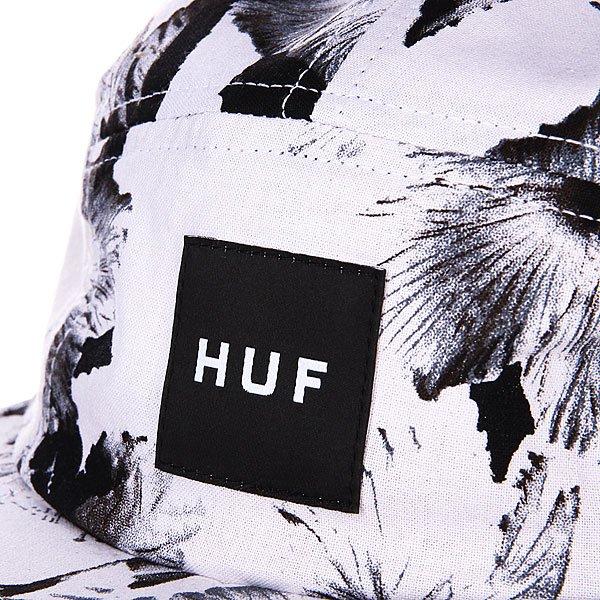 Бейсболка пятипанелька Huf Oxford Mesh Volley White Floral