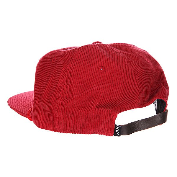 Бейсболка Huf Red Authentic Cord Red