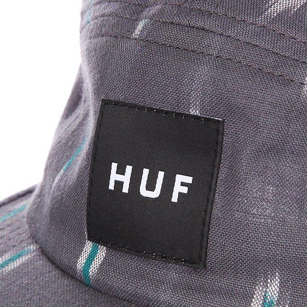 Бейсболка пятипанелька Huf Ikat Volley Light Grey