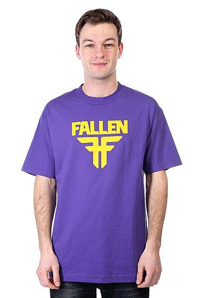 Футболка Fallen Insignia Logo Purple/Yellow