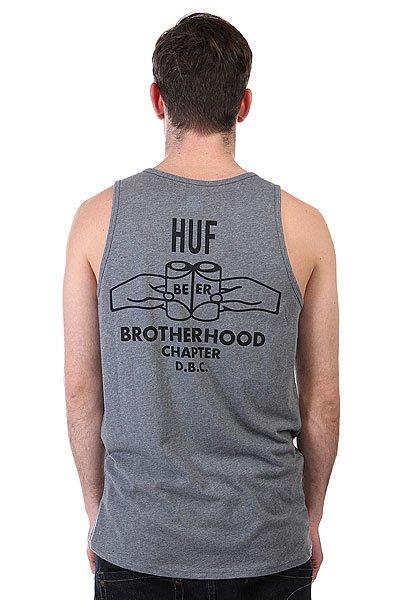 Майка Huf Brotherhood Tank Grey Heather