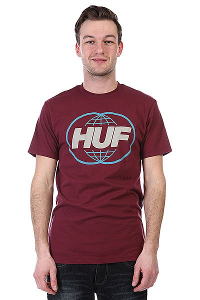Футболка Huf Huf Global Burgundy