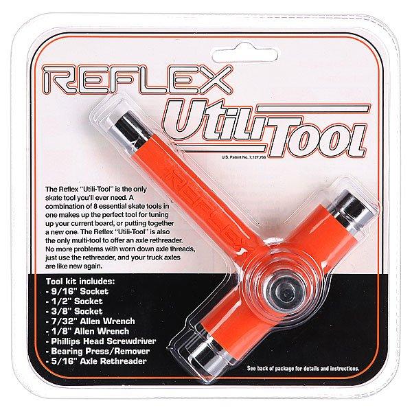 Ключ для скейтборда Reflex Tool Orange/Chrome