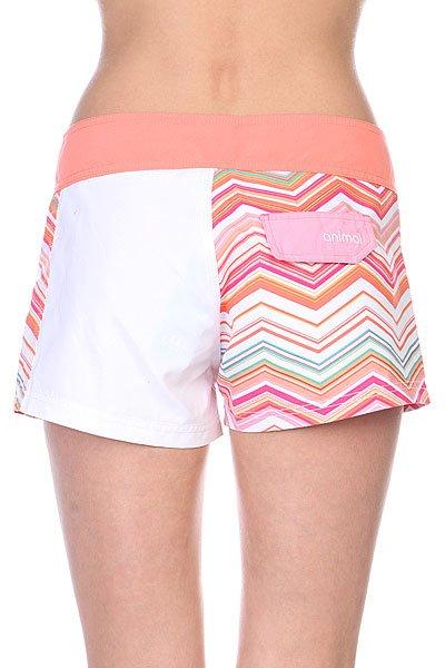Шорты пляжные женские Animal Flame Board Orange/Pink/White