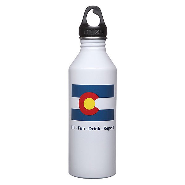 Бутылка для воды Mizu M8 800ml Colorado Flag Glossy White