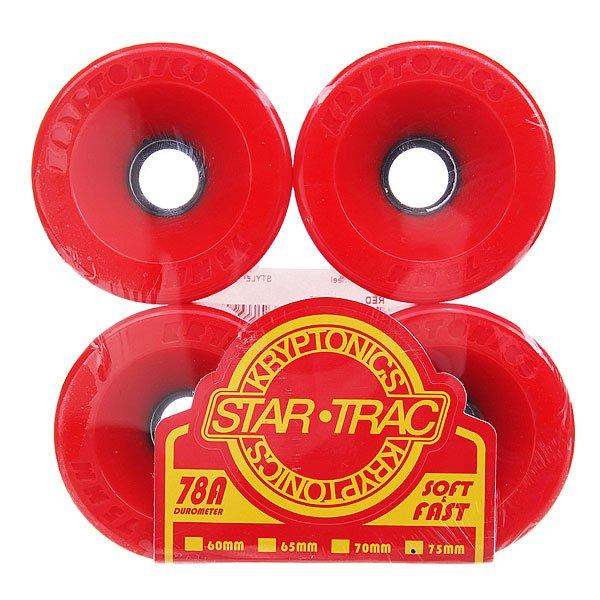 Колеса для лонгборда Kryptonics Star Trac Premium Red 78A 75 mm