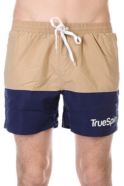 Шорты пляжные TrueSpin Swimming Shorts Splash Two Beige/Navy