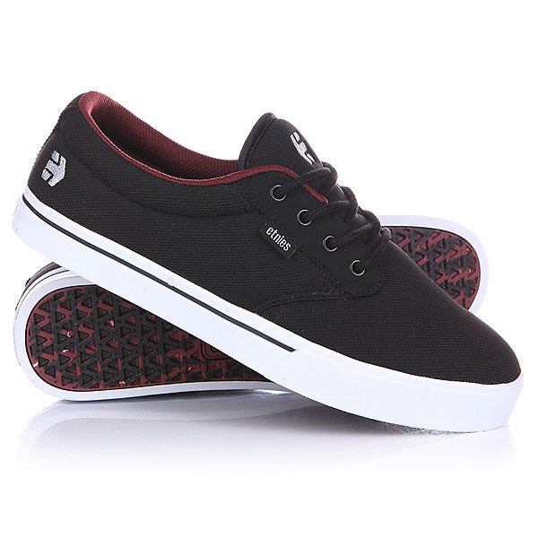 Кеды низкие Etnies Jameson 2 Eco Black/White/Burgundy