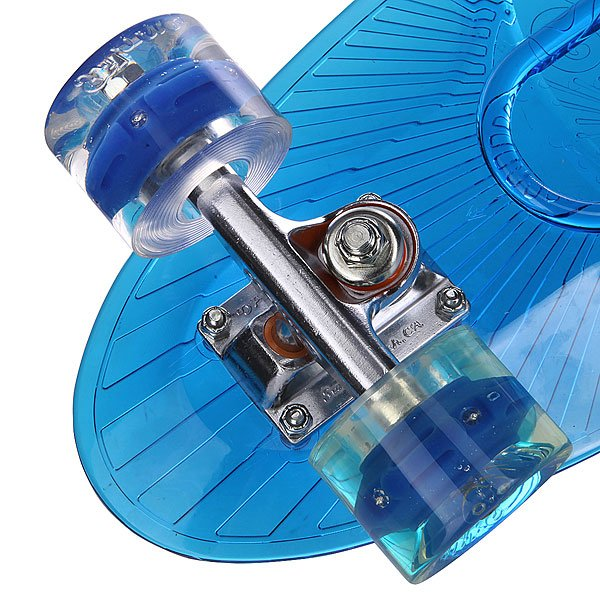 Скейт мини круизер Sunset Wave Complete Blue Deck Blue Wheels 6 x 22 (55.9 см)