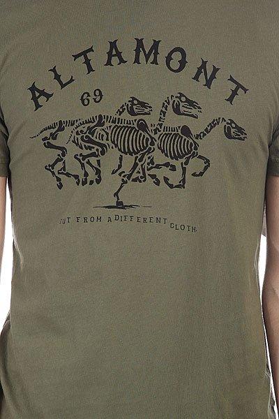 Футболка Altamont Wild Horses Olive