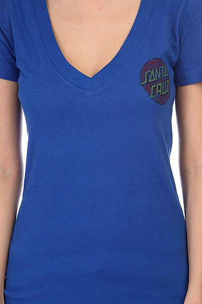 Футболка женская Santa Cruz Classic Dot V-Neck Royal Blue