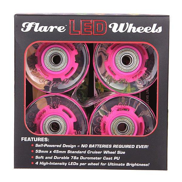 Колеса для лонгборда с подшипниками Sunset Cruiser Wheel With Abec9 Pink 78A 59 mm