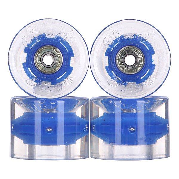 Колеса для лонгборда с подшипниками Sunset Cruiser Wheel With Abec9 Blue 78A 59 mm