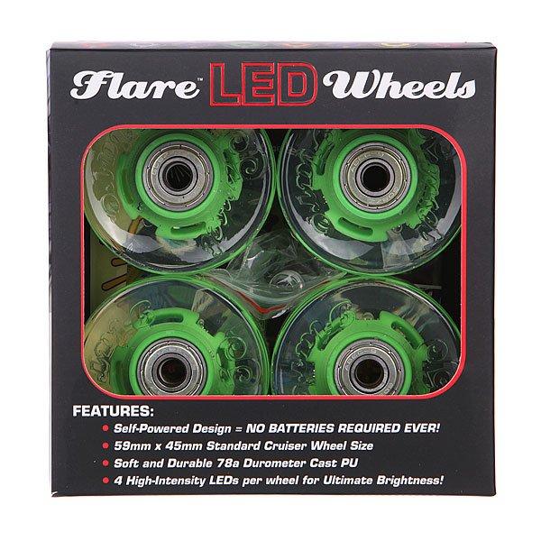 Колеса для лонгборда с подшипниками Sunset Cruiser Wheel With Abec9 Green 78A 59 mm