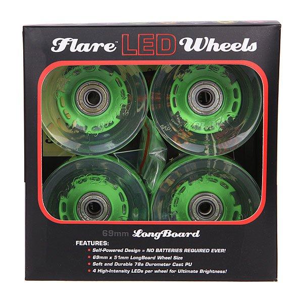 Колеса для лонгборда с подшипниками Sunset Long Board Wheel With Abec9 Green 78A 69 mm