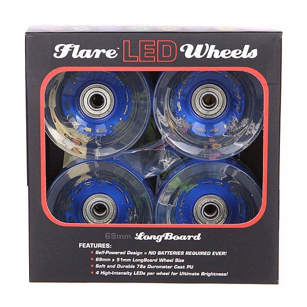 Колеса для лонгборда с подшипниками Sunset Long Board Wheel With Abec9 Blue 78A 69 mm