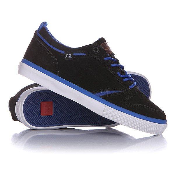 Кеды кроссовки низкие детские Quiksilver Daytona B Shoe Black/Blue/White