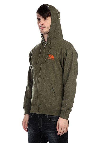 Толстовка Fallen Poler X Fallen Zip Hood Heat Army/Orange