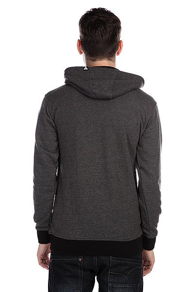 Толстовка Fallen Authentic Zip Hood Heat Charcoal