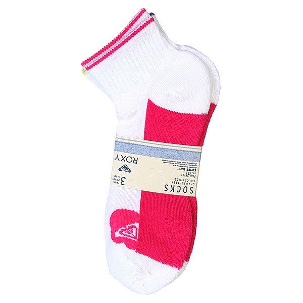 Носки средние женские Roxy 3pk Cont. Sole White