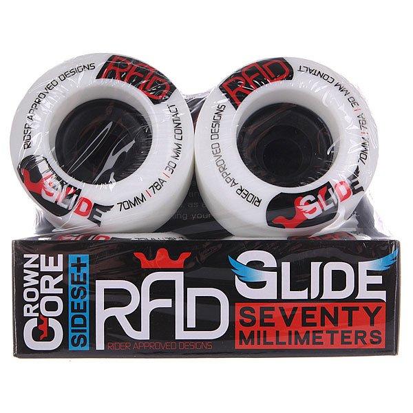Колеса для лонгборда RAD Glide Wheels White 78A 70 mm