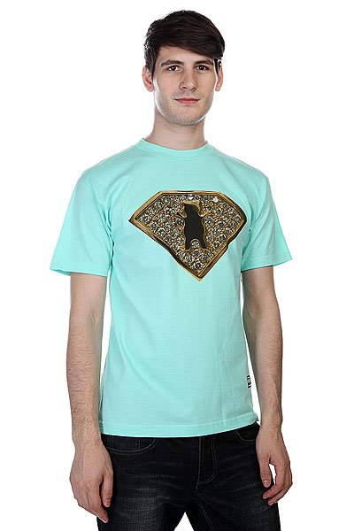 Футболка Grizzly Team Ring Tee Diamond Blue