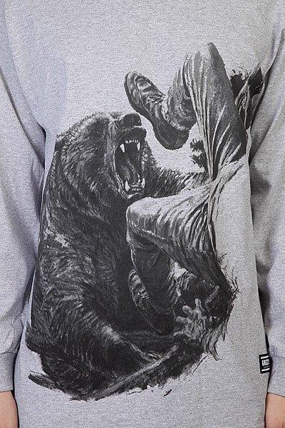 Лонгслив Grizzly Bear Encounter Tee Grey