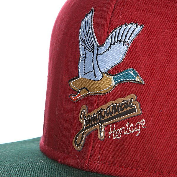 Бейсболка Запорожец Дичь Logo Wine/Green