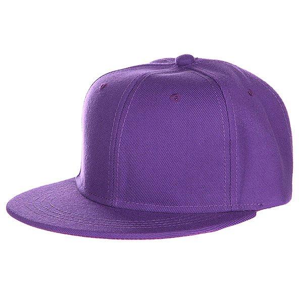 Бейсболка TrueSpin Blank Snapback, Purple, O/S