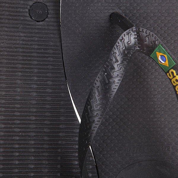 Вьетнамки Havaianas STen Brasil Logo Black/Green/Yellow