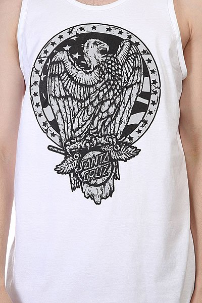Майка Santa Cruz Eagle Badge Tank White