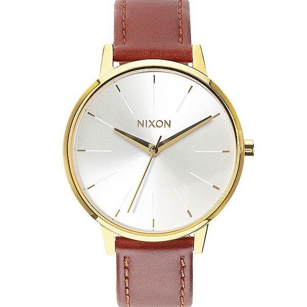 Часы женские Nixon Kensington Leather Gold/Saddle