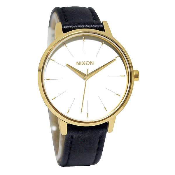 Часы женские Nixon Kensington Leather Gold/White/Black