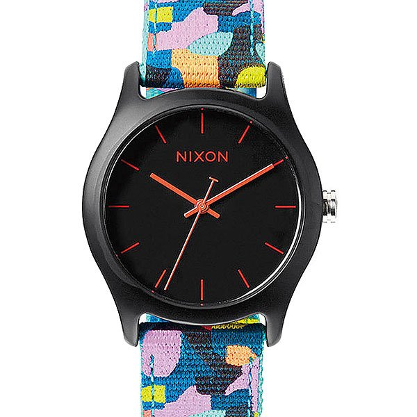 Часы женские Nixon Mod Acetate Charcoal/Neo Preen