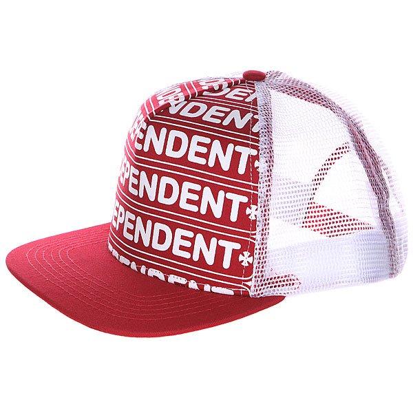 Бейсболка Independent Axle Bar Trucker Red/White