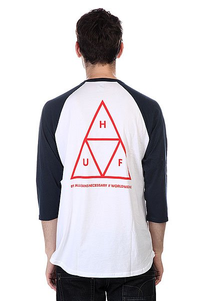 Лонгслив Huf Triple Triangle Raglan White