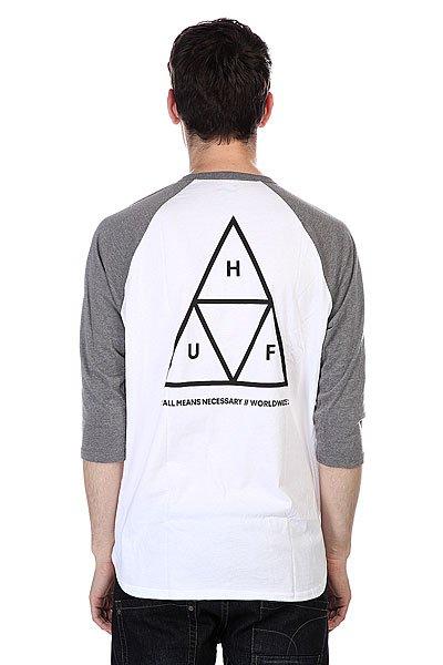 Лонгслив Huf Triple Triangle Raglan Gray Heather