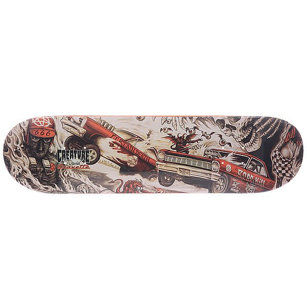Дека для скейтборда Creature Gravette Strait To Hell Multi 31.7 x 8.26 (21 см)