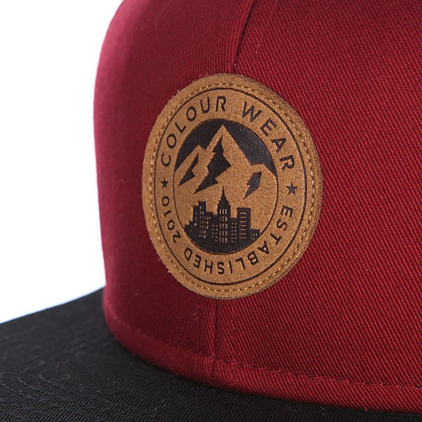 Бейсболка CLWR Badge Cap Burgundy