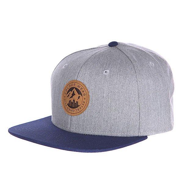 Купить Бейсболка CLWR Badge Cap Grey Melange 1121690