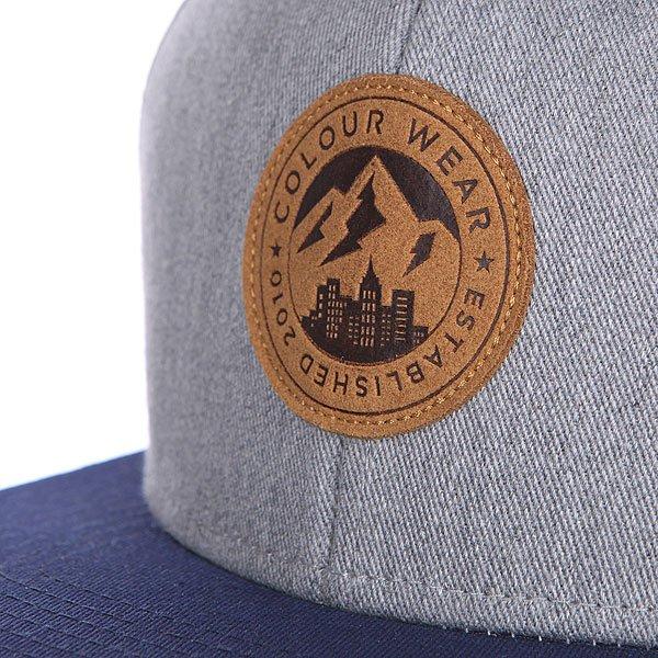 Бейсболка CLWR Badge Cap Grey Melange