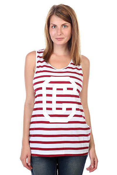 Майка женская CLWR Banger Tank Top Burgundy Stripe