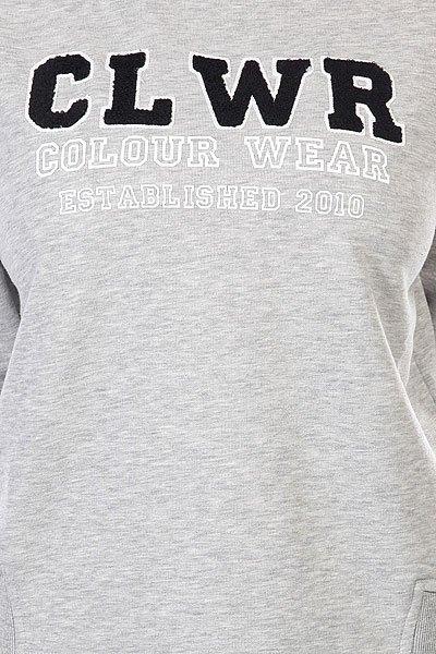 Толстовка женская CLWR Swell Crew Grey Melange
